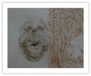 Penone, (extrait d'oeuvre) musée des beaux arts de Grenoble, 2015